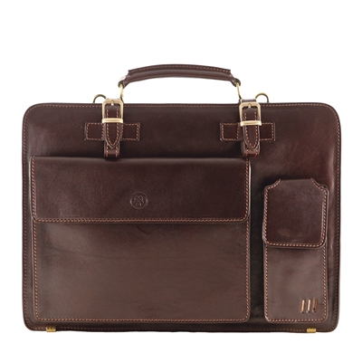 The Alanzo Large Capacity Two Section Briefcase