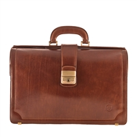 The Basilio Two Section Executive Leather Briefcase