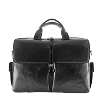 The Lagaro Single Section Leather Briefcase