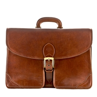 The Tomacelli 3 Large Leather Three Section Briefcase