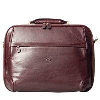The Volterra Luxury Leather Laptop Briefcase by Maxwell Scott