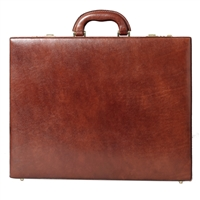 The strada Expandable Luxury Italian Leather Attache Case