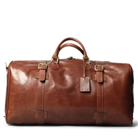 The FleroEL Extra Large Italian Leather Overnight Bag
