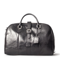 The Farini Italian Leather Overnight Holdall Bag