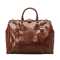 The Gassano Medium Italian Leather Gladstone Holdall Bag
