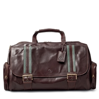 The Dino Medium Luxury Italian Leather Travel Holdall Bag