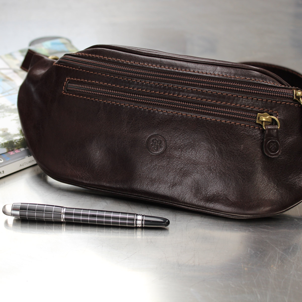a6be8cf8cc The Centolla Luxury Italian Leather Bum Bag by Maxwell Scott