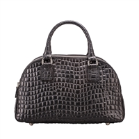 The LilianaS Fine Italian Croco Leather Ladies Bowling Style Handbag