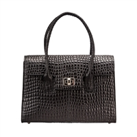 The Fabia Croco Fine Italian Croco Leather Business Handbag