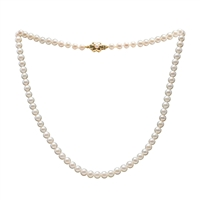 5mm - 6mm Freshwater Pearl Necklet. 18 Inches.
