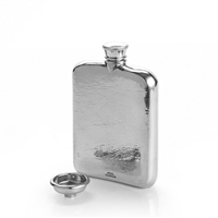 Pewter 4oz Hip Flask with Funnel and Wooden Gift Case by Royal Selangor