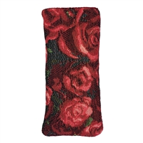 Tapestry Style Eye Glasses Case with Magnetic Closure. Fully Lined