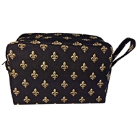 Gent's Fabric Toiletry Wash Bag with Fleur de Lis Design
