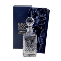 Crystal Edinburgh Pattern Traditional Square Whisky Spirit Decanter by Royal Scot Crystal