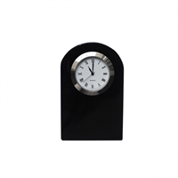 Classic Black Crystal Small Dome Clock by Royal Scot Crystal