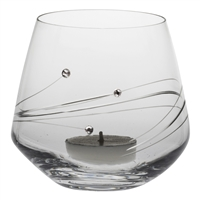 Diamante Lead Crystal Candle Votive with Swarovski Crystal Detail by Royal Scot Crystal