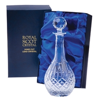 Crystal Wine Decanter London Design. Presentation Boxed By Royal Scot Crystal