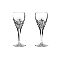 Pair Kintyre Pattern Port or Sherry Glasses. Gift Boxed by Royal Scot Crystal
