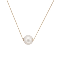 9ct Yellow Gold Cultured Freshwater Pearl Slider Style Necklet