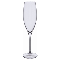 Pair Plain Champagne Flute Glasses. Wine Master Range by Dartington Crystal