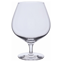 Pair Plain Brandy Balloon Glasses. Wine Master Range by Dartington Crystal