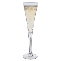 Pair of Sharon Design Champagne Flutes by Dartington Crystal