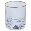 Pair Dimple Gold Range Crystal Single Old Fashioned by Dartington Crystal