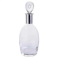 Soren Range Medium Spirit Decanter with Steel Collar by Dartington Crystal