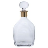 Crystal Murray Spirit Decanter with Gold Plated Collar by Dartington Crystal