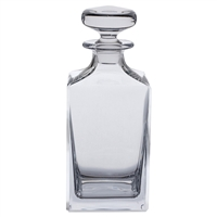 Traditional Plain Square Crystal Whisky or Spirit Decanter by Dartington Crystal