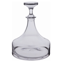 Contemporary Plain Crystal Ships Decanter by Dartington Crystal