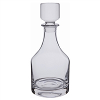 Plain Round Crystal Spirit Decanter by Dartington Crystal