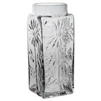 Large Smokey Grey Coloured Flower Vase. Marguerite Collection by Dartington Crystal