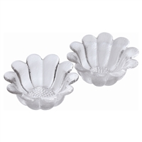 Pair Small Daisy Crystal Bowls by Dartington Crystal