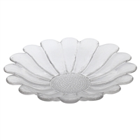 Large Crystal Daisy Serving Platter by Dartington Crystal