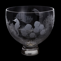 Gallery Collection Coral Reef Hand Engraved Bowl by Dartington Crystal