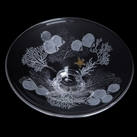 Gallery Collection Shoal Platter Hand Engraved by Dartington Crystal