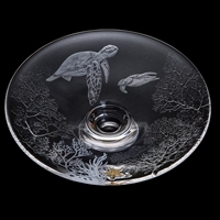 Gallery Collection Turtles Platter Hand Engraved by Dartington Crystal