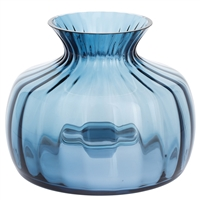 Medium Ink Blue Cushion Vase by Dartington Crystal