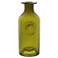 Aquilegia Green Flower Bottle Vase by Dartington Crystal