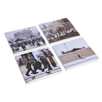 Set of Four Drinks Coasters Depicting Lowry's Famous Works by John Beswick