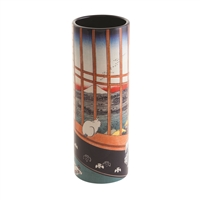 Porcelain Small Flower Vase Hiroshige Cat Sees Mount Fuji by John Beswick