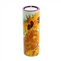 Porcelain Tea Light Candle Holder Van Gogh Sunflowers by John Beswick