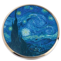 Pocket Handbag Compact Mirror Van Gogh Starry Night by John Beswick