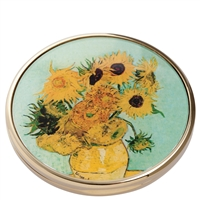 Pocket Handbag Compact Mirror Van Gogh Sunflowers by John Beswick