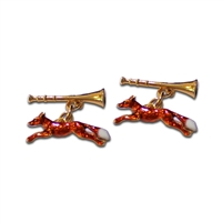 Silver Gilt Running Fox Cufflinks