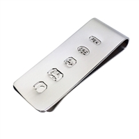Sterling Silver Money Clip with Feature Hallmark