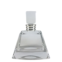 The Manhattan Fine Crystal and Sterling Silver Whisky Decanter.