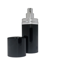 Black & Silver Refillable Handbag Perfume Atomiser. 30ml Volume