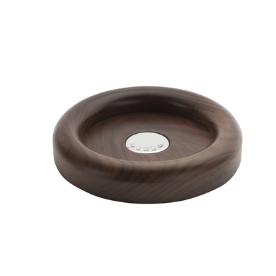 Solid American Walnut Bottle Coaster with Hallmarked Sterling Silver Disc